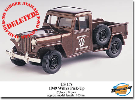 Модель 1:43 Willys PICK-UP - brown