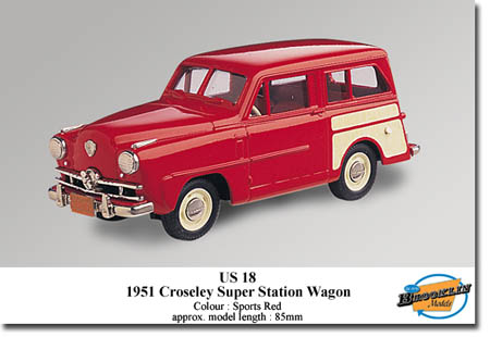 Модель 1:43 Crosley Super Station Wagon - sports red/cream