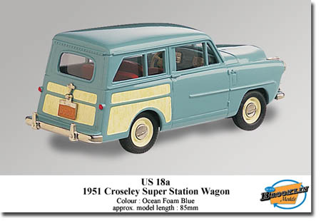 Модель 1:43 Crosley Super Station Wagon - ocean foam blue/cream