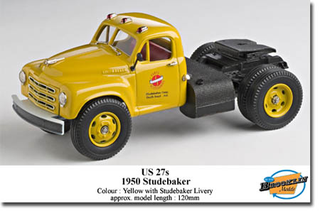 Модель 1:43 Studebaker - yellow with decal