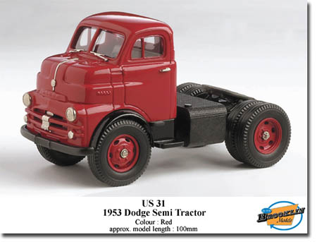 Модель 1:43 Dodge Tractor Unit / red
