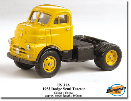 Модель 1:43 Dodge Tractor Unit / yellow