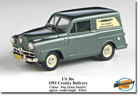 Модель 1:43 Crosley Delivery - may green met