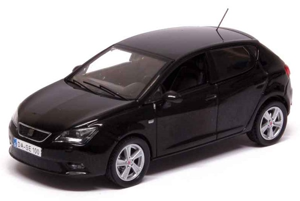Модель 1:43 Seat New Ibiza 5 Doors 2013 Universo Black Metal/ Facelift