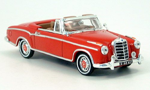Модель 1:43 Mercedes-Benz 220 SE Cabrio, red, open