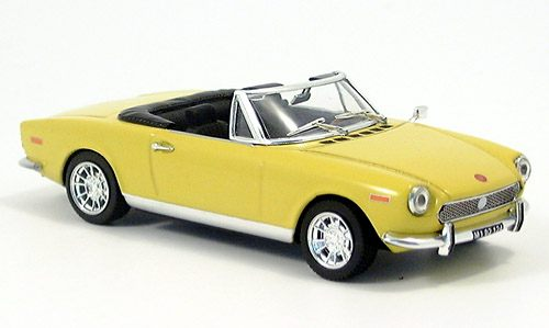 Модель 1:43 FIAT 124 Spider Open - matt yellow