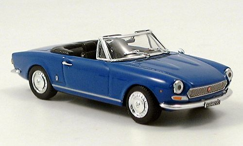 Модель 1:43 FIAT 124 BS1 Spider open - blue