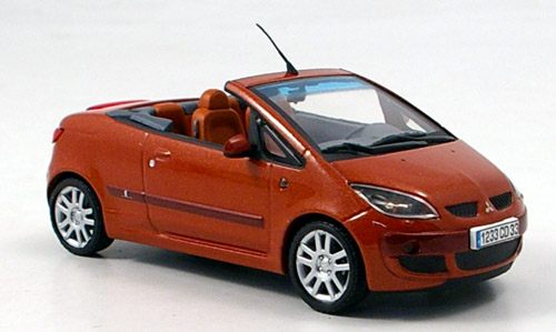 Модель 1:43 Mitsubishi Colt CZC Cabrio - orange