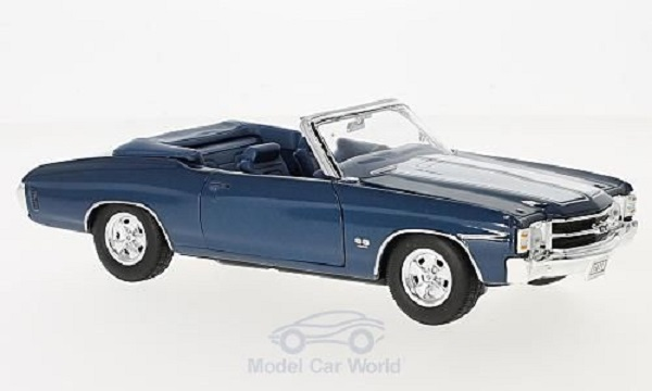Модель 1:24 Chevrolet Chevelle SS 454 Convertible - blue met/white